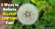 5 Ways to Relieve Allergy Symptoms Fast ~ MommyTalkShow.com