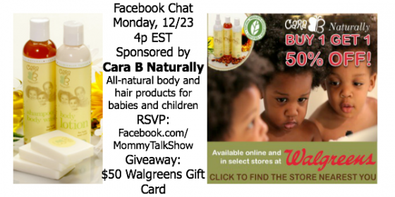 Order Cara B Naturally BOGO 50% off with Walgreens App #MyCaraB