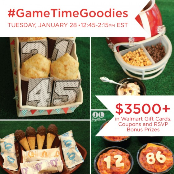 Twitter Party Alert! #GameTimeGoodies 1/28 12:45 PM ET - NEW Prizes of $3,500+!