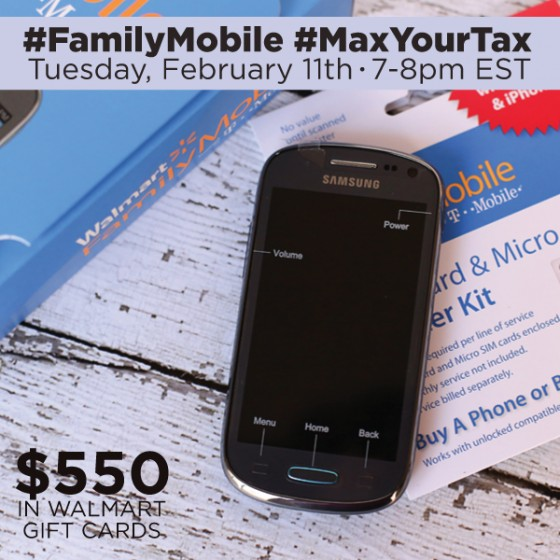 Join Me At The #FamilyMobile #MaxYourTax Twitter Party Tuesday February 11th ~ MommyTalkShow.com