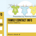 Babysitter Emergency List ~ MommyTalkShow.com