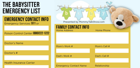 Featured Babysitter Emergency List