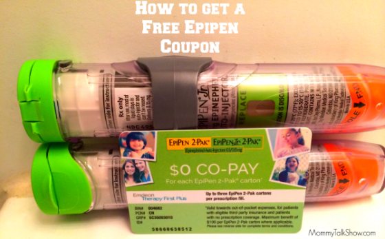 [VIDEO] How to get a Free EpiPen Coupon ~ MommyTalkShow.com