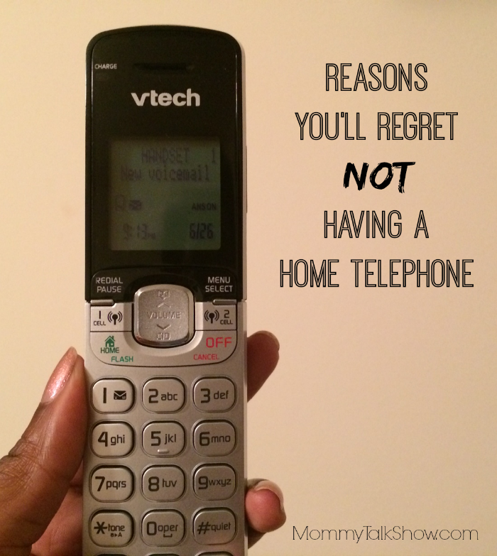 Reasons you'll regret NOT having a home telephone ~ MommyTalkShow.com