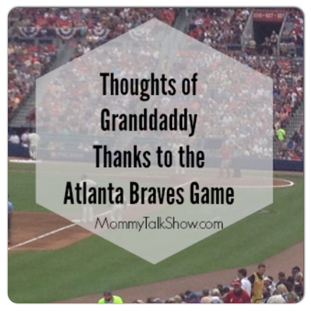 Today #ontheblog a family trip to see the Atlanta @braves sparked some deep conversations about baseball, loss and Grandadddy. See what my son asked that made me sob. Visit MommyTalkShow.com