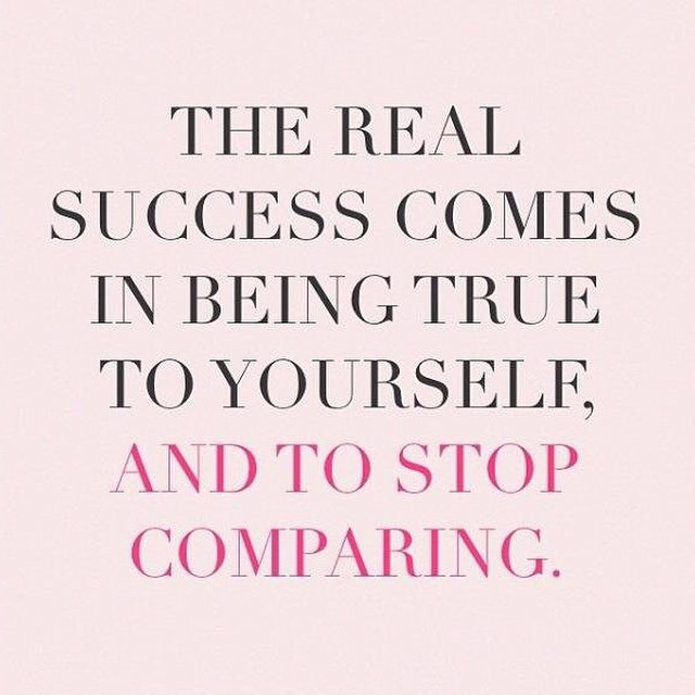 Happy Monday. Be you and stop comparing yourself to others! #PreachingToMyself