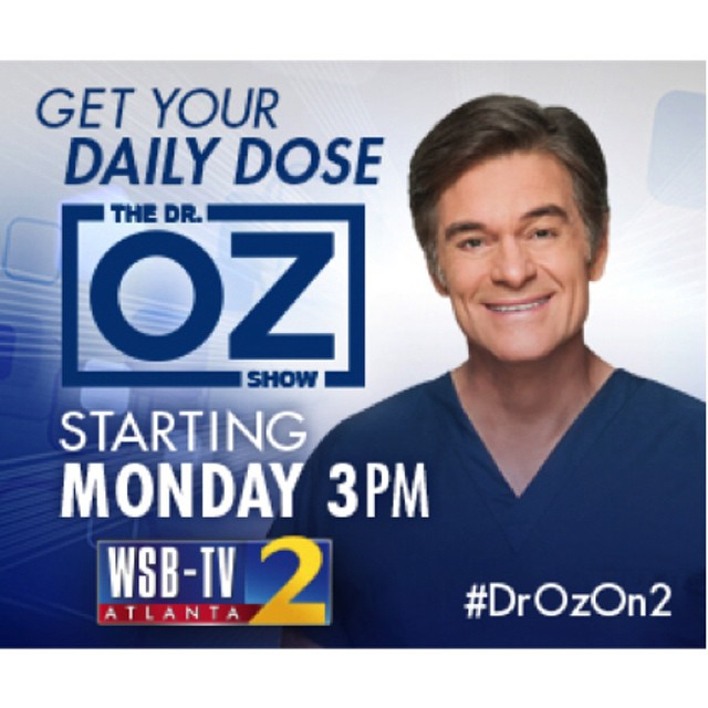 Excited to hear about your new season #DrOzon2 and meet @dr_oz today at the health expo hosted by @wsbtv team.