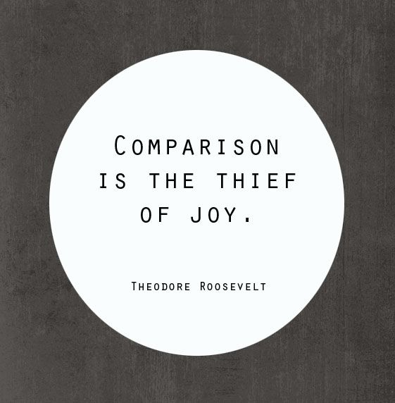 Comparison is the Thief of Joyce