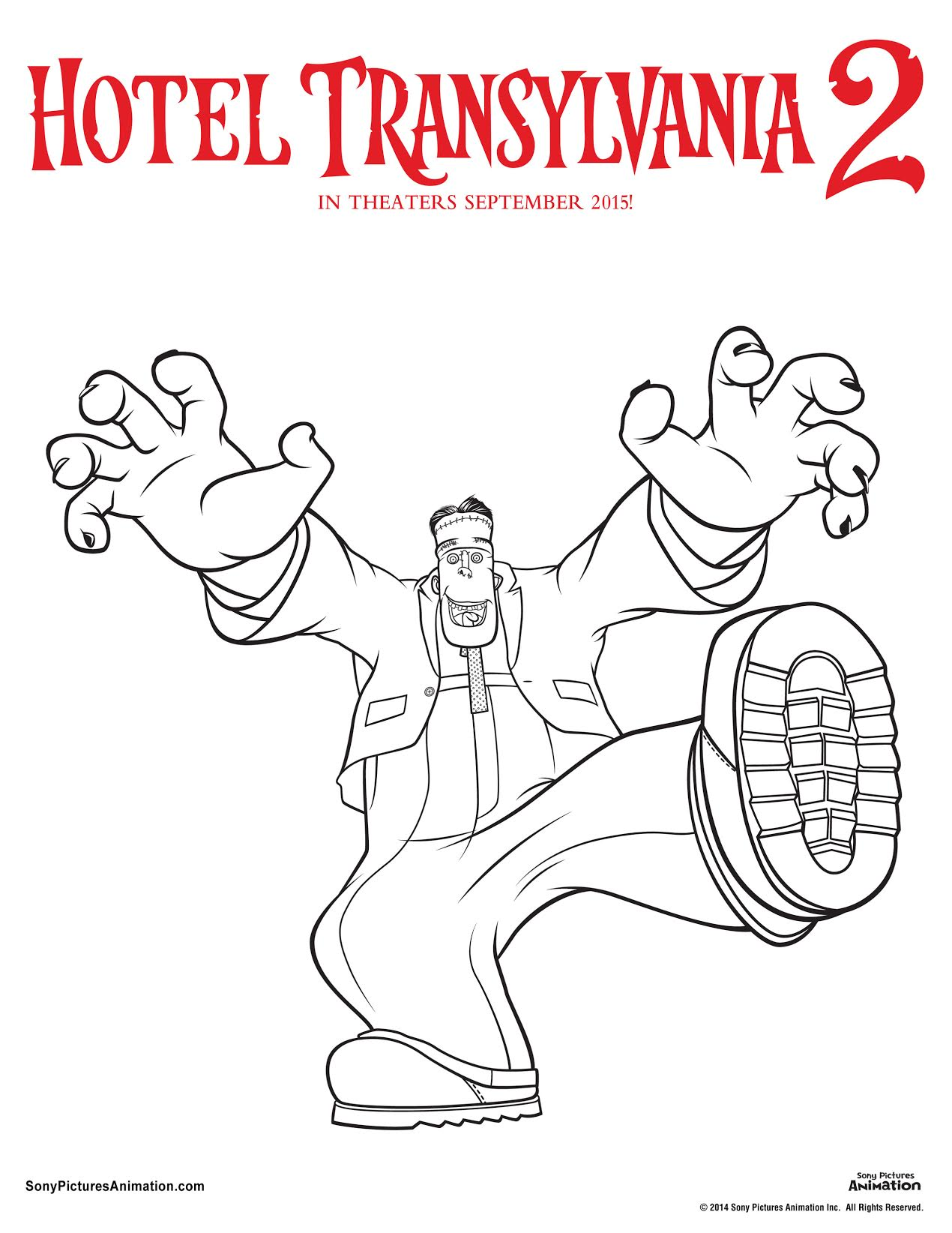 Colouring pages hotel transylvania - Murray The Mummy Hotel Transylvania