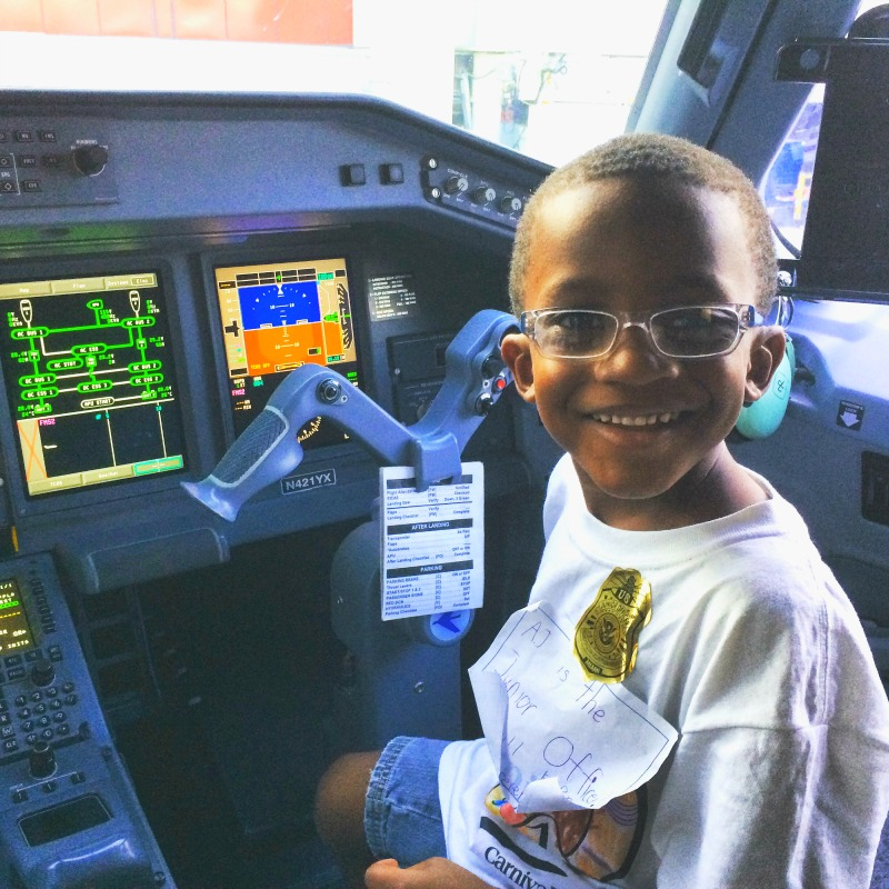 Boy in Cockpit Cruise