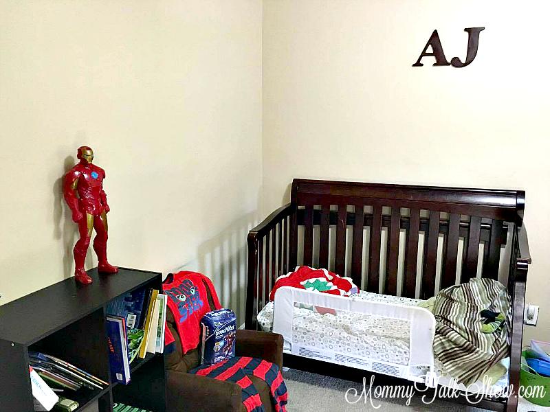 A.J. Initials Bedroom