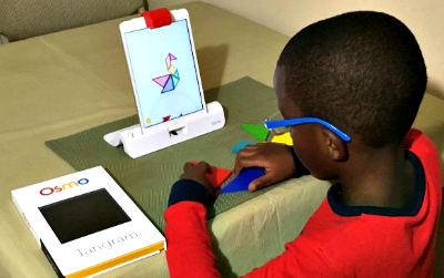 Avoid the Summer Slump by Letting Children Play Osmo iPad Game