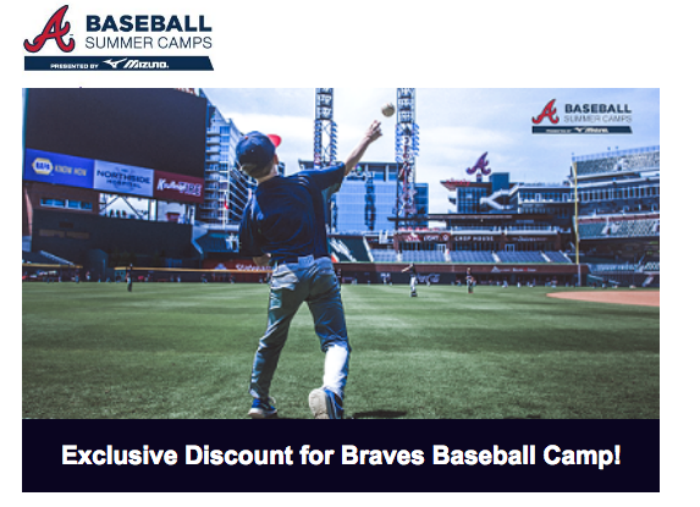 Atlanta Braves Summer Camp + Savings Code to Register