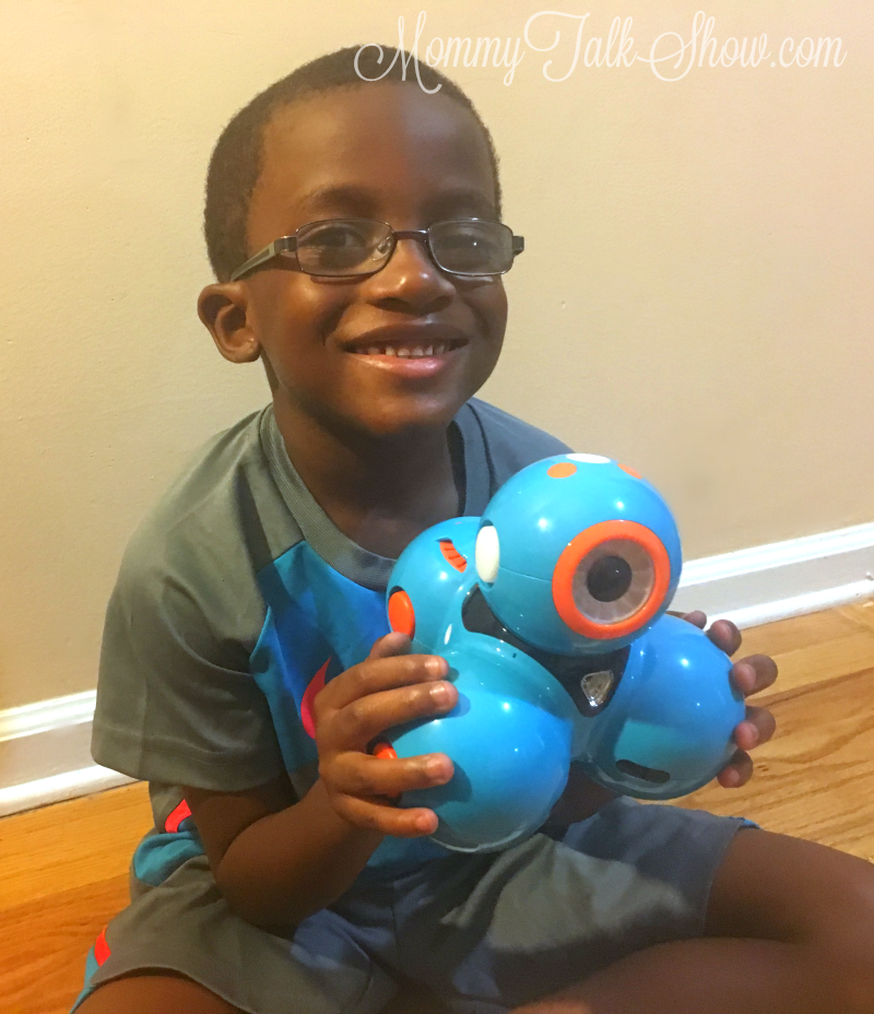 A.J. with Dash Robot
