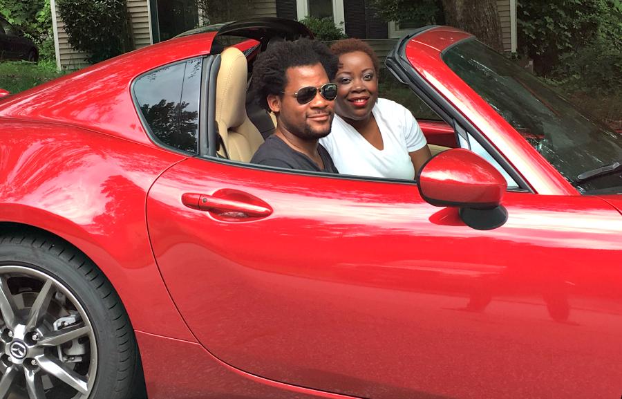 Couple in 2017 Mazda Miata