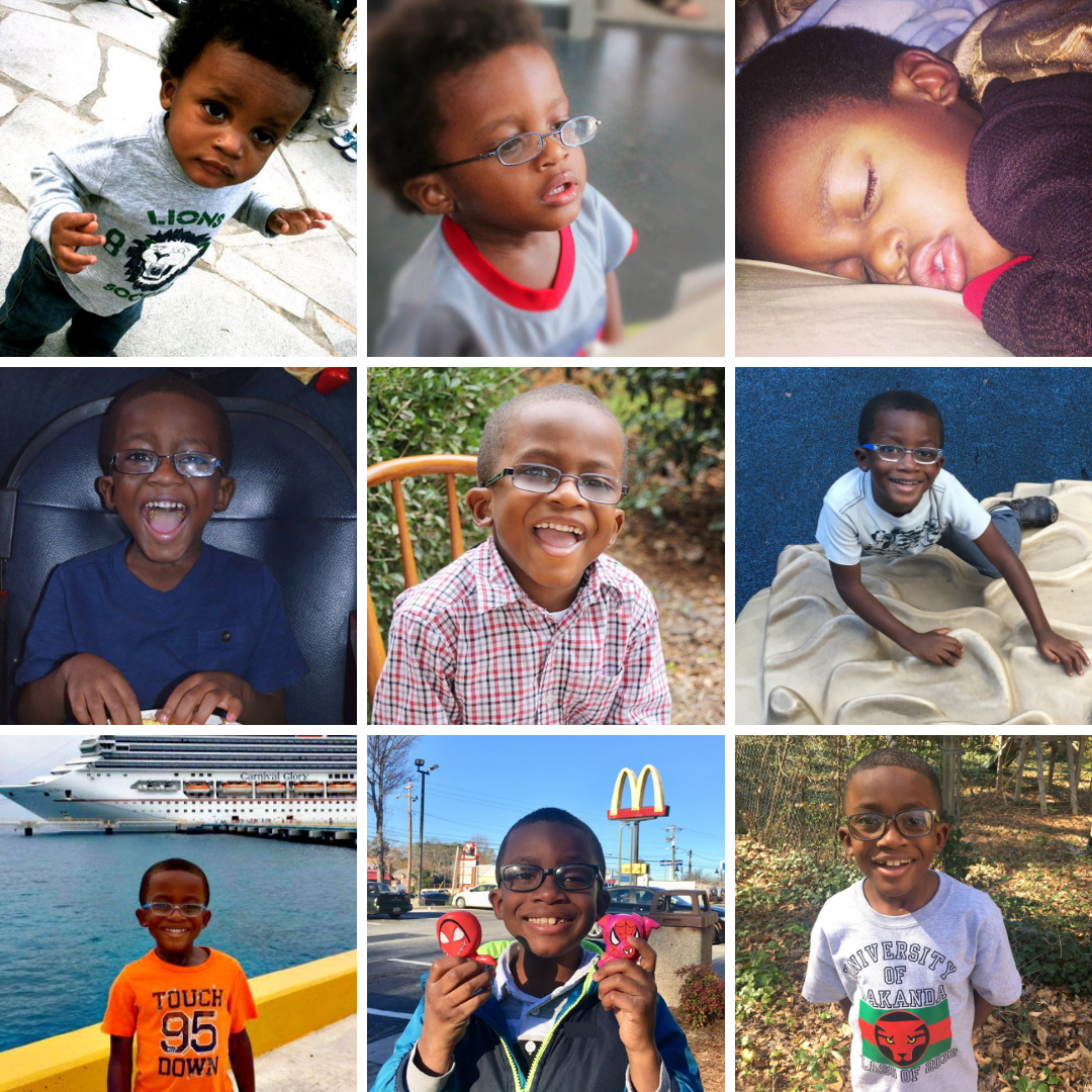 Collage of A.J.
